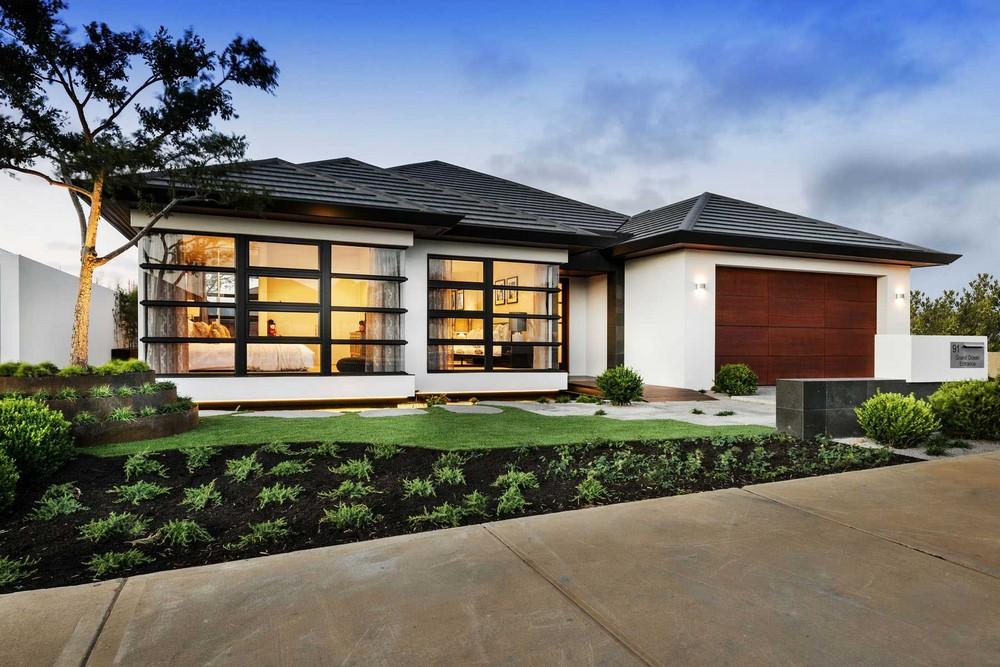 Desain Rumah Modern Tropis 1 Lantai