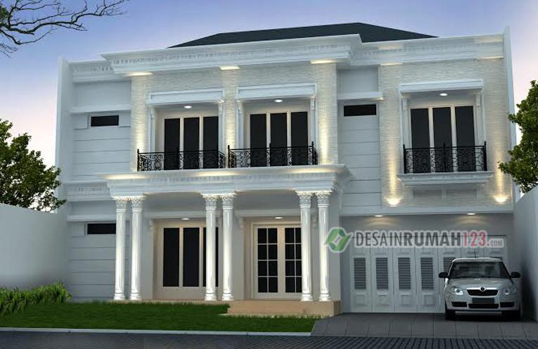 Desain Rumah Klasik 2 Lantai