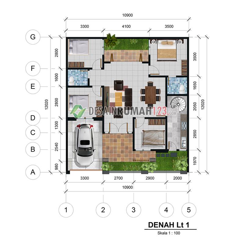 desain rumah 1 are