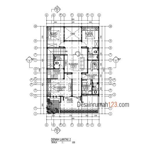 Desain Rumah 2 Lantai di Lahan 9 x 15 M2 | DR – 904