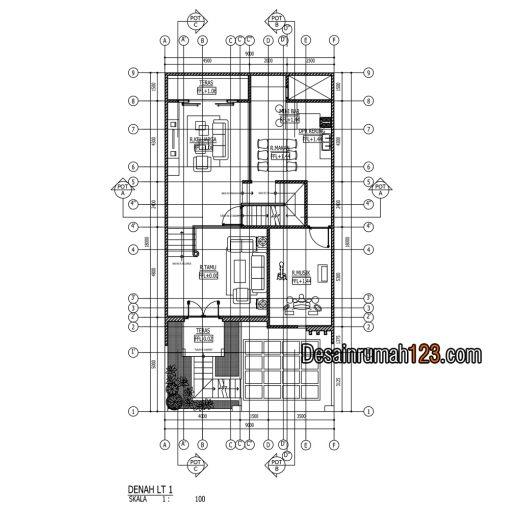 Desain Rumah 3 Lantai di Lahan 9 x 18 M2 | DR – 905