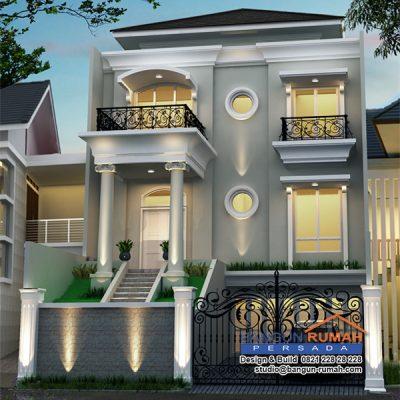 Desain Rumah Klasik 3 Lantai di Lahan 10 x 21 M2 | DR – RK – 1001