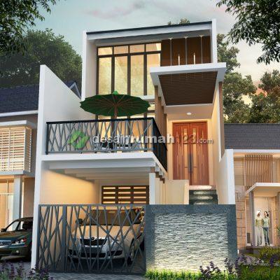 Desain Rumah 5 x 20 M2  3 Lantai | DR – 502