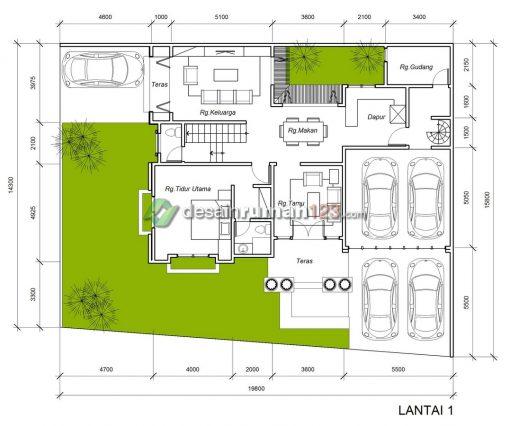 Desain Rumah Klasik 2 Lantai di Lahan 15 x 19 M2 | DR – 1503
