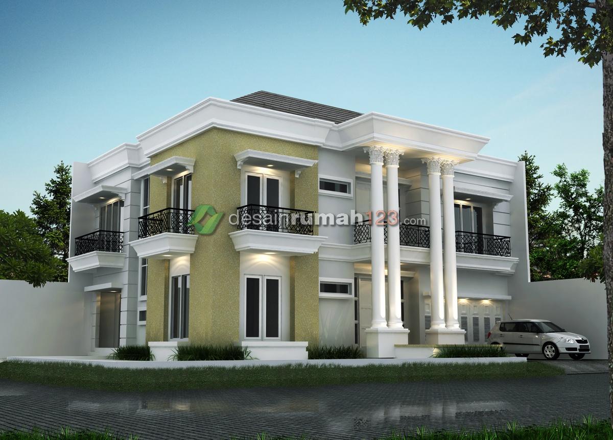 Desain Rumah Klasik 2 Lantai Di Lahan 15 X 19 M2   DR - 1503 - Desain Rumah  Jakarta