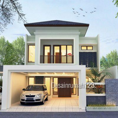 Desain Rumah 2 Lantai Ukuran Tanah 8,5 x 21 M2 | DR – 807