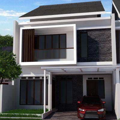 Desain Rumah 2 Lantai di Lahan 8 x 15 M2 | DR – 805