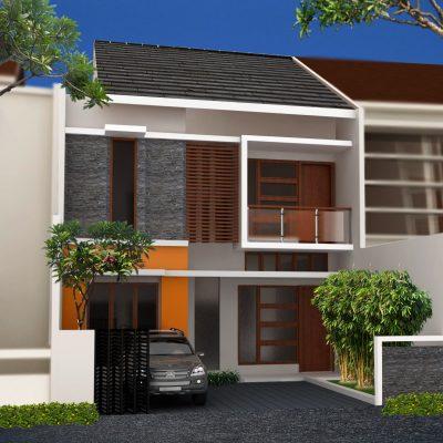 Desain Rumah 2 Lantai di Lahan 8 x 16 M2 | DR – 803