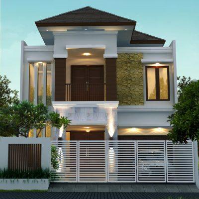 Desain Rumah Tropis 2 Lantai di Lahan 9 x 20 M2 | DR – 906
