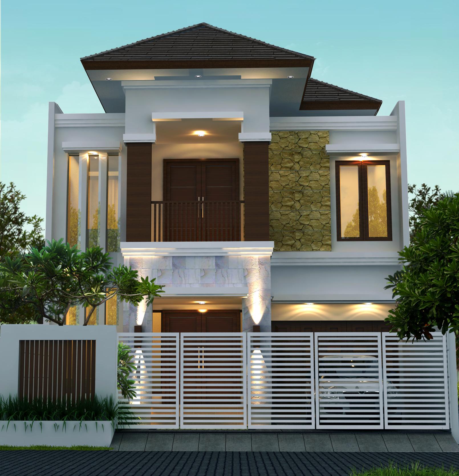 Rumah Tropis Modern 9 X 20 M2 Jasa Desain Rumah Jakarta