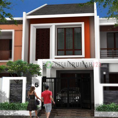 Desain Rumah 2 Lantai di Lahan 5 x 20 M2 | DR – 505