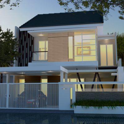 Desain Rumah 2 Lantai di Lahan 10 x 20 | DR – 1004