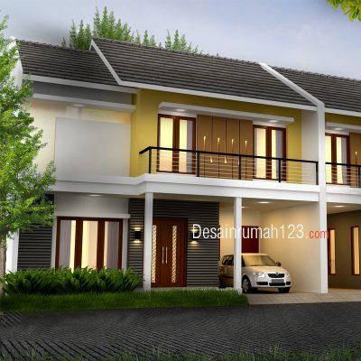 Desain Rumah 2 Lantai di Lahan 10,6 x 10 M2 | DR – 1002