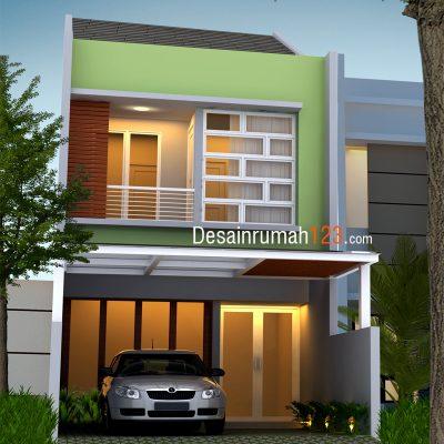 Desain Rumah 2 Lantai di Lahan 5 x 20 M2 | DR – 504