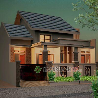 Desain Rumah 1,5 Lantai di Lahan 10,9 x 12 M2 | DR – 1005
