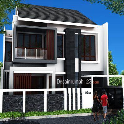 Desain Rumah 2 Lantai di Lahan 10 x 16 M2 | DR – 1001