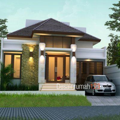 Desain Rumah 1,5 Lantai di Lahan 10 x 20 M2 | DR – 1003