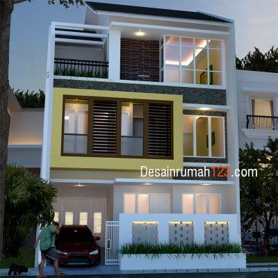 Desain Rumah 3 Lantai di Lahan 8 x 11 M2 | DR – 806