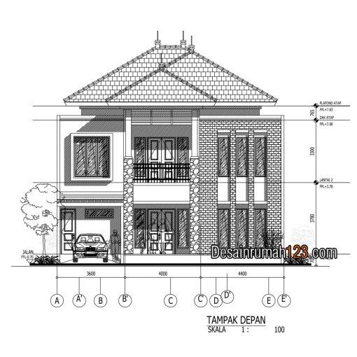 Desain Rumah Tropis di Lahan 12 x 15 M2 | DR – 1204