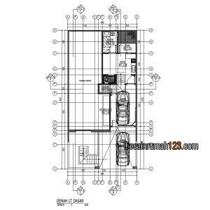 desain rumah dilahan 9x18 dengan bangunan 3 lantai