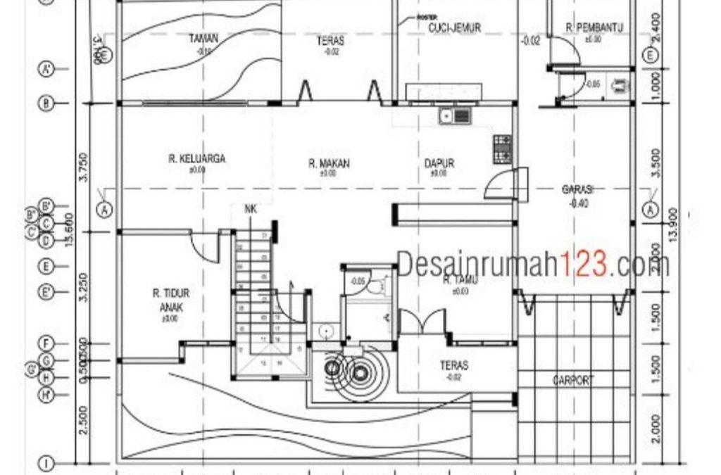 Desain Rumah Minimalis 2 Lantai 15 x 13 M2