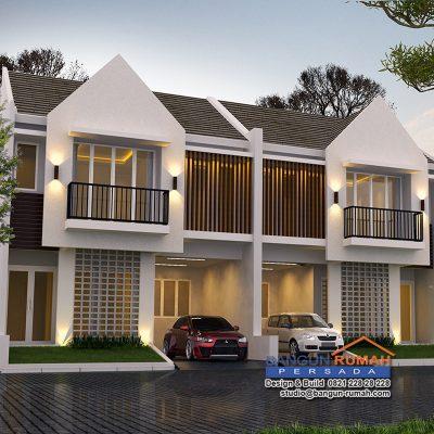 Desain Rumah 2 Lantai di Lahan 8,2 x 11,5 M2 | DR – 808
