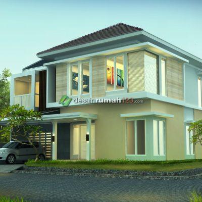 Desain Rumah 2 Lantai di Lahan 15,2 x 15,2 M2 | DR – 1503