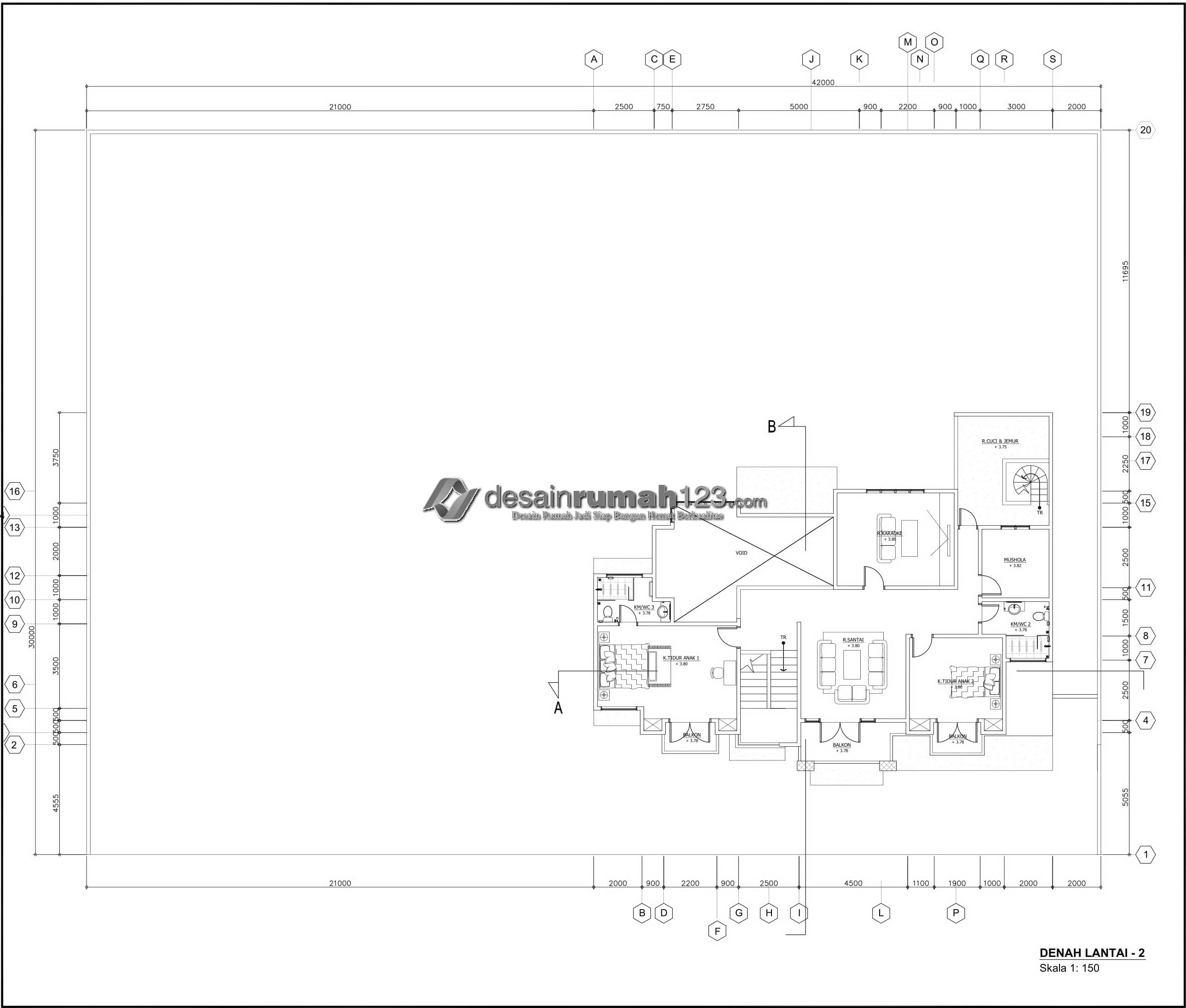 Desain Rumah 2 Lantai Di Lahan 42 X 30 M2 Dr 4202 Desain Rumah Jakarta