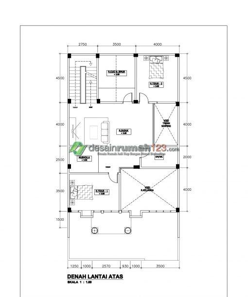 Desain Rumah Klasik 3 Lantai di Lahan 10 x 19 M2 | DR – 1019