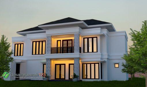 Desain Rumah 2 Lantai di Lahan 42 x 30 M2 | DR – 4202