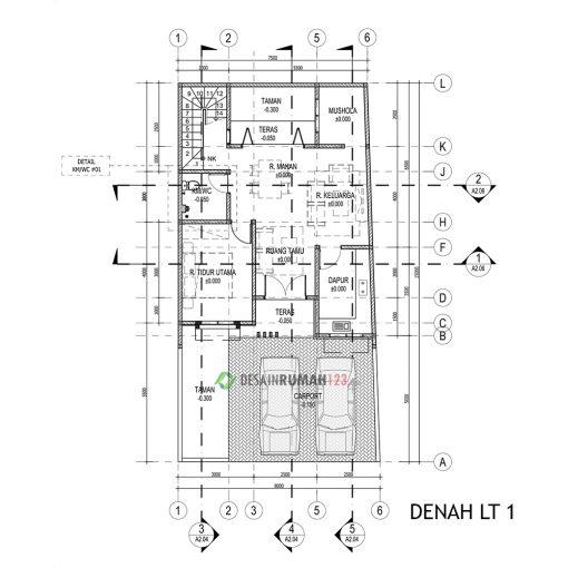Desain Rumah 2 Lantai di Lahan 8 x 15 M2 | DR – 815