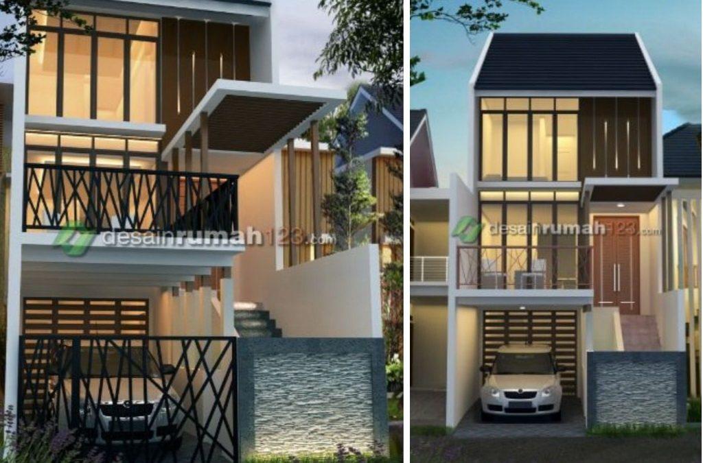 Desain Rumah Minimalis Di Lahan 5 X 20 M2 Ini Dibangun 3 Lantai