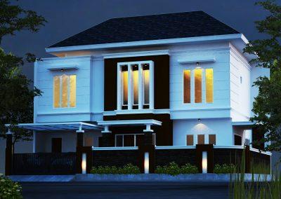 Desain Rumah Bapak Andra Wibisono di Duren Sawit Jakarta Timur