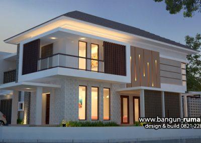 Desain Rumah 2 Lantai Modern Tropis di Cipete Jakarta Selatan