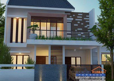 Desain Rumah 2 Lantai 9 x 15 M2 | Desain Rumah Bapak Fauzan di Cakung Jakarta