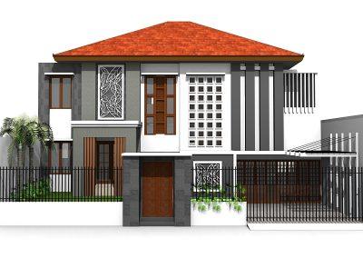 Desain Rumah Ibu Widi Wiken di Tebet  Barat Jakarta