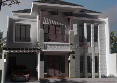 Desain Rumah 2 Lantai di Bumi Satria Kencana Bekasi Selatan