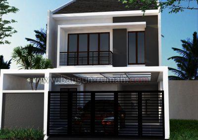 Desain Rumah Bapak Arif Sigita di Jl. Potlot Jakarta Selatan | Desain Rumah 7 x 20 M2