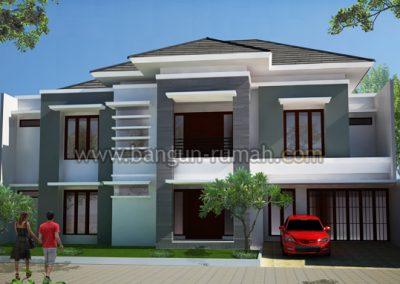 Desain Rumah 2 Lantai di Lahan 19 x 20 M2 | Desain Rumah Bapak Asep di Cirebon