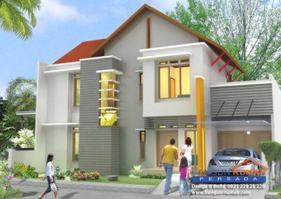Desain Rumah 2 Lantai 15 x 20 M2 | Desain Rumah Bapak Azka Subhan di Cempakabaru Jakarta Pusat