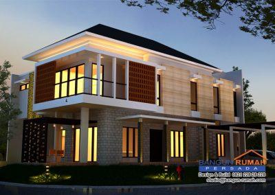 Desain Rumah Ibu Wiwiek di Grand Cove BSD Tangerang