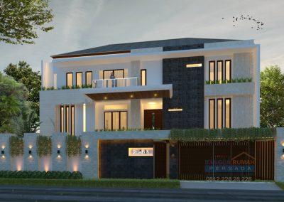 Desain Rumah Ibu Novi di Kemang Pratama Bekasi