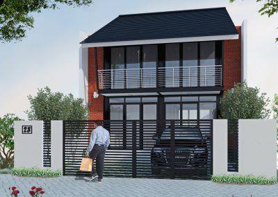 Desain Rumah Bapak Joshua di Manado