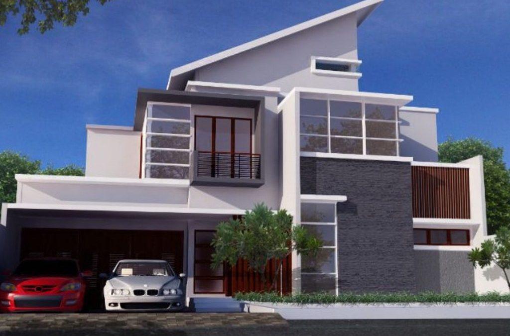 Desain Rumah Kontemporer 2 Lantai 16 x 30 M2