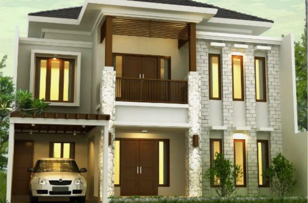 Desain Rumah Tropis 2 Lantai Di Lahan 12 x 15 M2