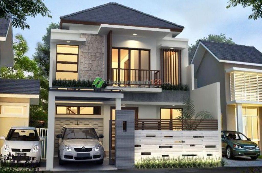 Desain Rumah Tropis Stylish 2 Lantai Di Lahan 8 x 15 M2