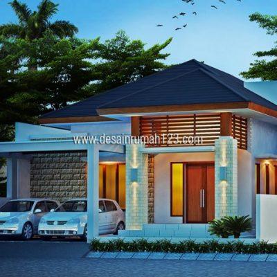 Desain Rumah 1,5 Lantai di Lahan 12 x 20 M2 | DR – 125