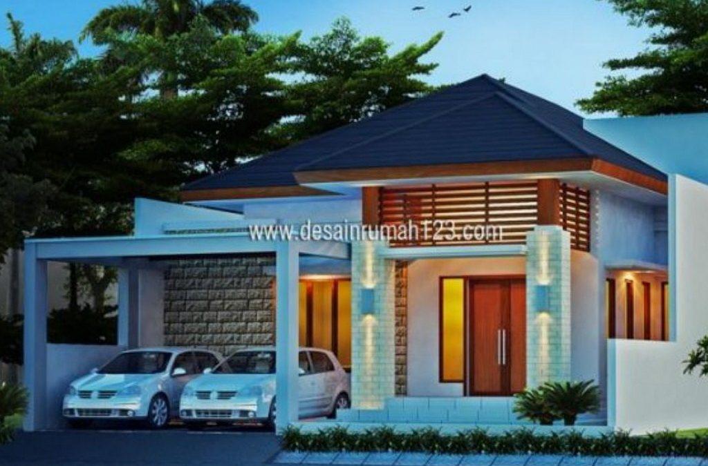Desain Rumah Tropis 1,5 Lantai Di Lahan 12×20 M2