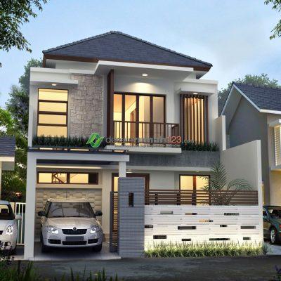 Desain Rumah 2 Lantai di Lahan 8 x 15 M2 | DR – 855