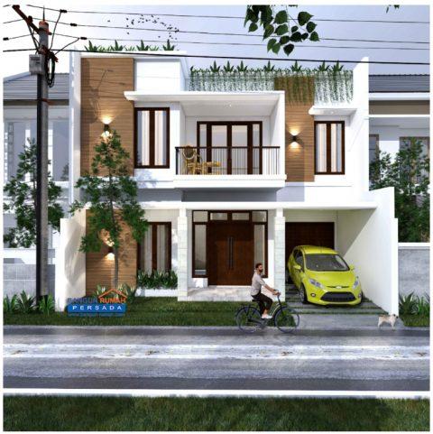 desain rumah minimalis 2 lantai dilahan 10,2 x 12,3 m2